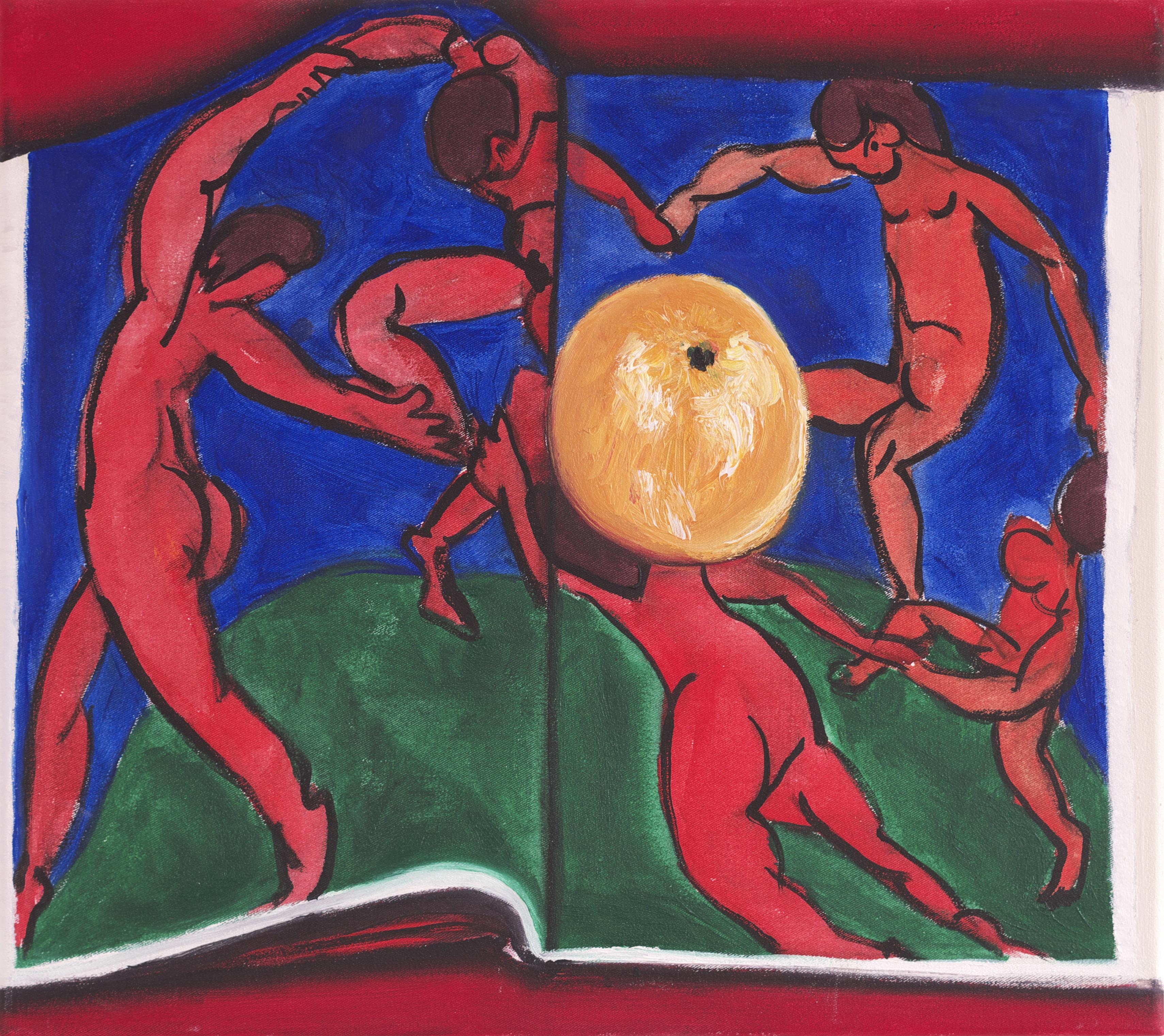 Orange auf Matisse Öl auf Leinwand 40x45 cm 2016 (aus der Serie